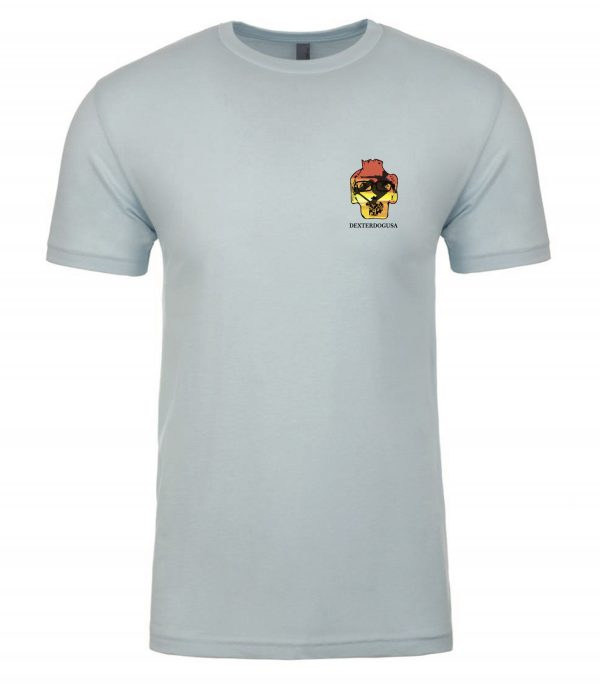 Front view of Big Air shirt featuring DexterDog