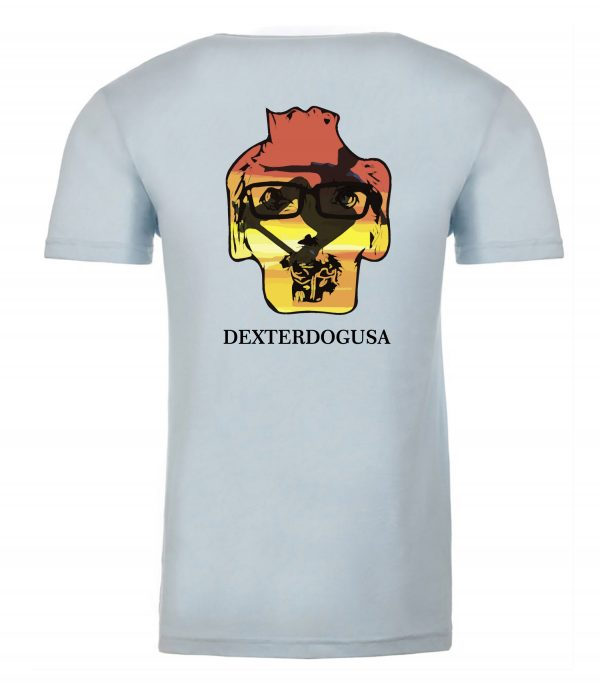 Back view of Big Air shirt featuring DexterDog