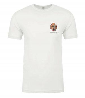 Front view of Surfboard shirt featuring DexterDog