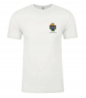 Front view of Surfer Tshirt featuring DexterDog