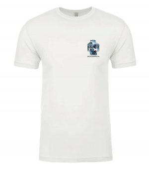 Front view of Surfing Tshirt featuring DexterDog