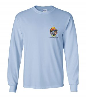 Front view of DexterDogUSA Surfer Long Sleeve Tee
