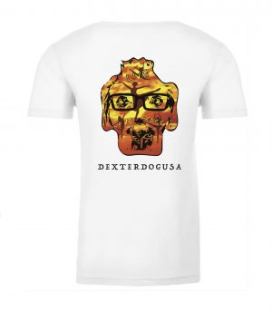 Back view of DexterDogUSA Live Love Dance Tshirt