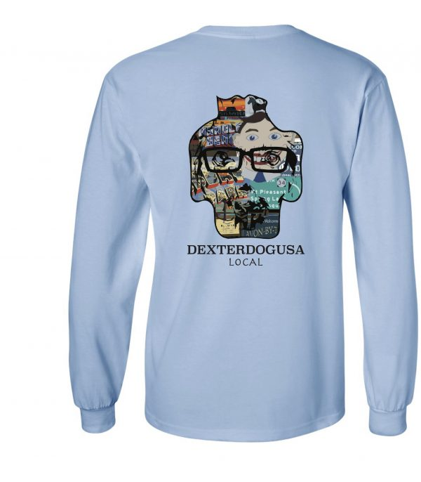 Back view of DexterDogUSA Local Long Sleeve Tee
