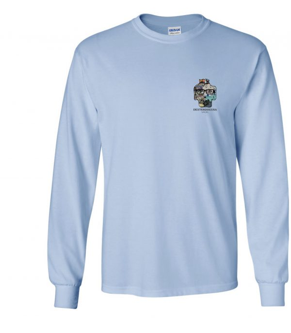 Front view of DexterDogUSA Local Long Sleeve Tee