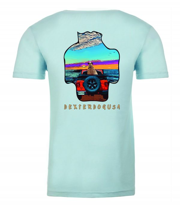 Front view of DexterDogUSA Jeep Tshirt