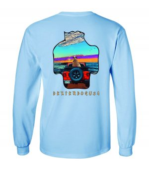 Front view of DexterDogUSA Jeep Long Sleeve Tshirt