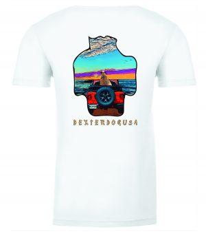Back view of DexterDogUSA Jeep Tshirt