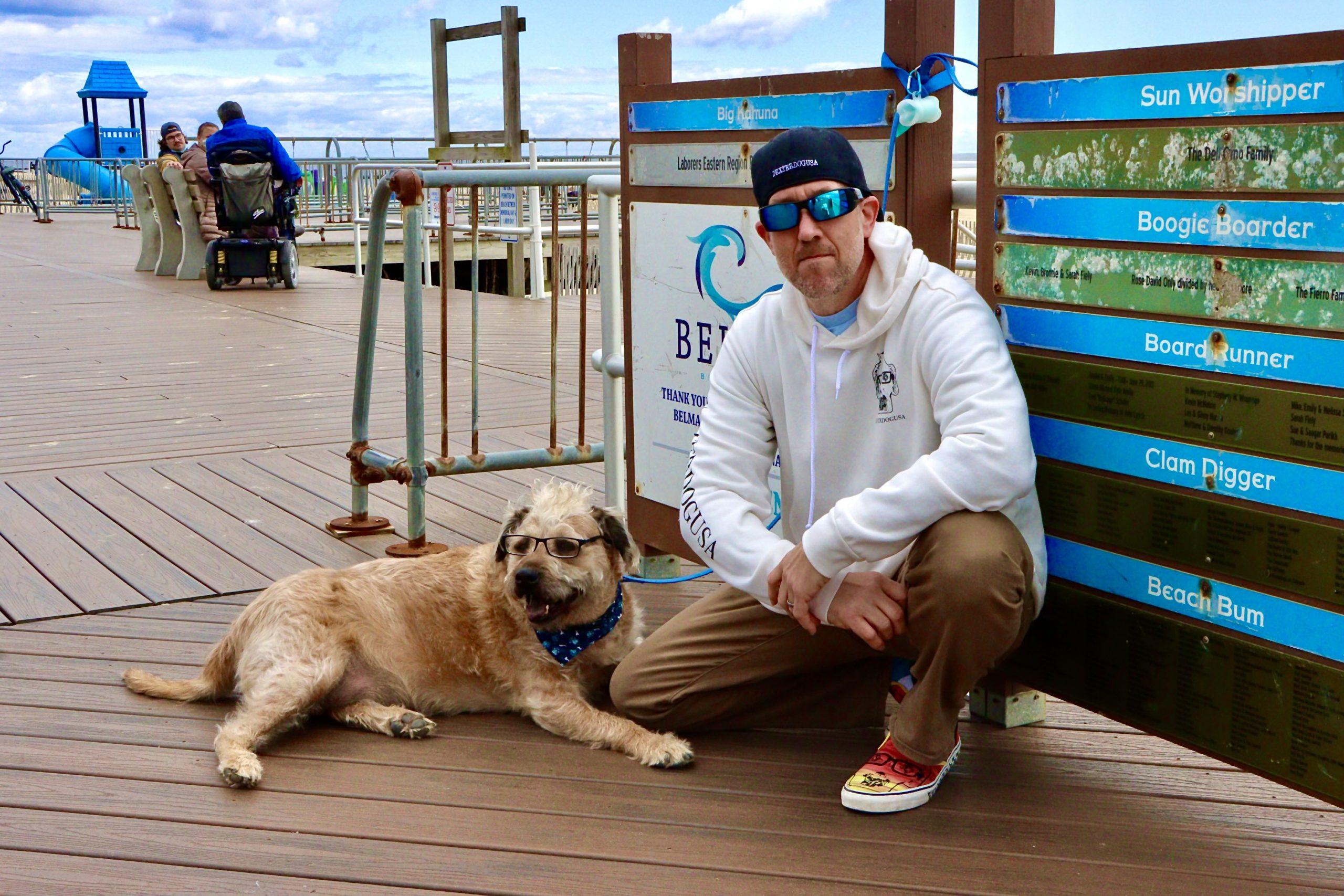 Owner of Dexter Dog and Dexter on Belmar Boardwalk